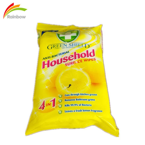 Custom Antibacterial Household Cleaning Surface Wet Wipes Tissue - FOB:US$ - MOQ:
