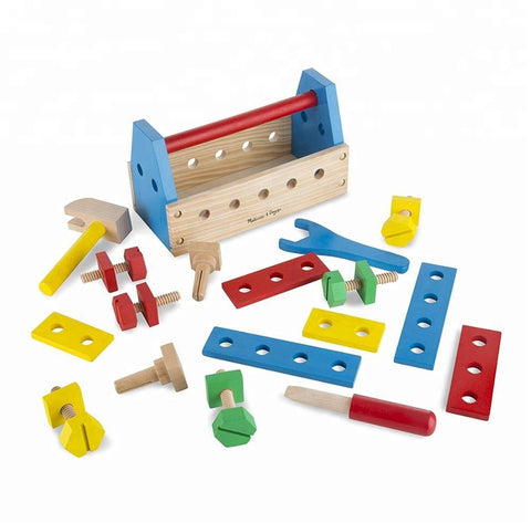 Custom Logo Fsc Certified Wooden Construction Tool Set Kids Tool Kits Boy Gift Learning Toys - FOB:US$ - MOQ: