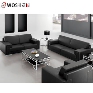 Direct Manufacturer Black Modern Office Furniture Leather Couch/leather Couch Sofa - FOB:US$ - MOQ: