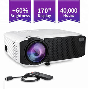 E400 Latest 1800 Lux Led Portable Projector,Video Projector With 170'' And 1080p Support,Compatible With Fire Tv Stick - Buy Led Projector,Lcd Projector,Home Theater Video Projector Product on Alibaba.com