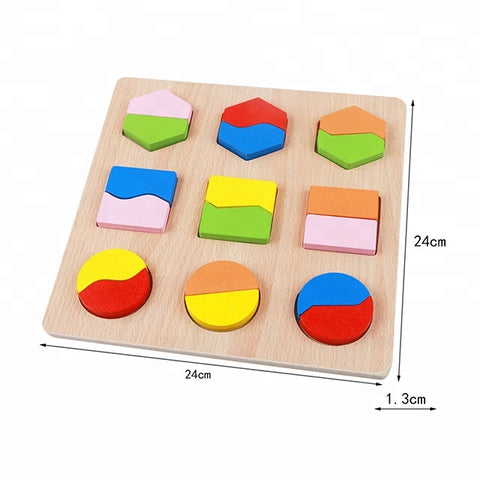 Europe Kids Learning Toy Children 2018 Wooden Sorting Shape Matching Toy - FOB:US$ - MOQ: