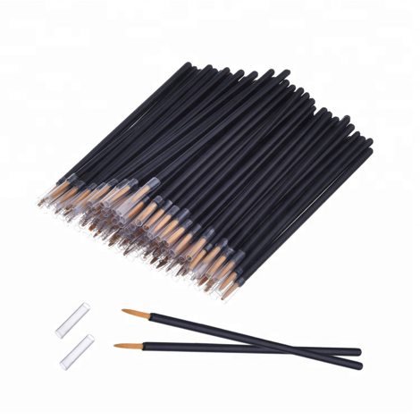 100 Pack Disposable Eyeliner and Lip Brush Applicator - FOB:US$3.00 - MOQ:1000