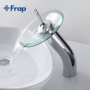 Circle Waterfall Glass Bathroom Basin Mixer Tap Waterfall Faucet Sink - FOB:US$ - MOQ: