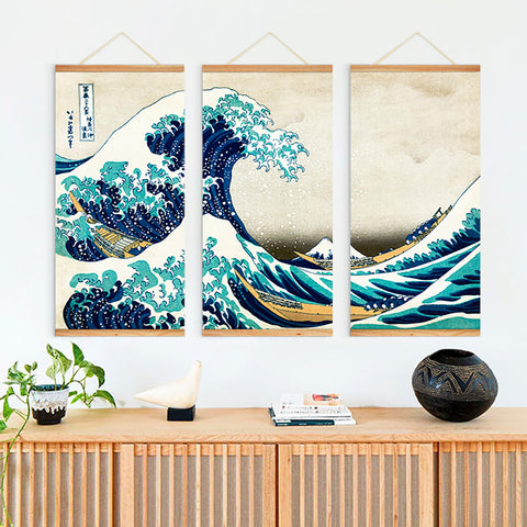 Famous Japanese Wall Art Printing Painting - FOB:US$ - MOQ: