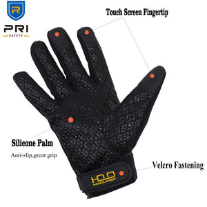 Full Finger Windproof Water Rain Resistant Silicone Palm Outdoor Sport Gloves - FOB:US$ - MOQ: