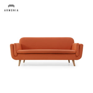 Furniture Nordic Style Wall Side Chesterfield Office Waiting Sofa Orange Fabric Couch For Sale - FOB:US$ - MOQ: