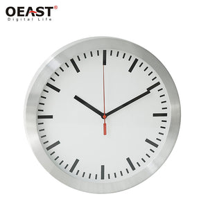 12inch Metal Wall Clock with Quartz with Radio Controlled Clock - FOB:US$4.95 - MOQ:1000