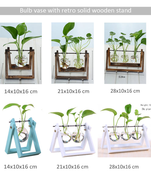 Artificial Desktop Decoration Tube Glass Planter - FOB:US$6.60 - MOQ:100