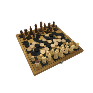 2 in 1 Chess Wooden Game Set Foldable Board Game Set - FOB:US$4.37 - MOQ:1000