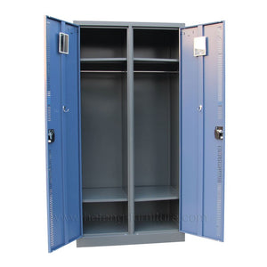 2 Door Steel School Lockers - Wardrobe - FOB:US$132 - MOQ:50