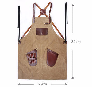 Heavy Duty Waterproof Work Tool Barber Leather Cross Back Strap - FOB:US$30.58 - MOQ:25
