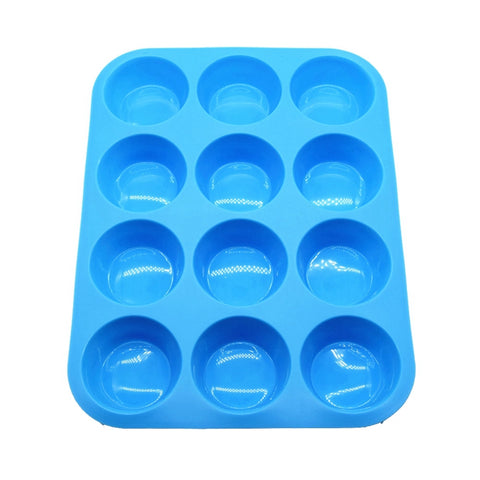 Nonstick Cake Pan Silicone 12 Cup Muffin Pan - FOB:US$2.10- MOQ:100