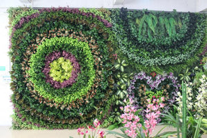 Beautiful Plastic Artificial Plants Outdoor Green Wall - FOB:US$220 - MOQ:10 Square Meters