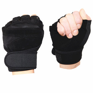 Hyl-6999 Promotional Custom Half Finger Weightlifting Fitness Gloves - FOB:US$ - MOQ: