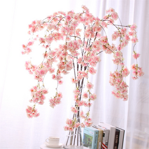 Hanging Cherry Blossom Artificial Flower for Wedding - FOB:US$1.21 - MOQ:1000