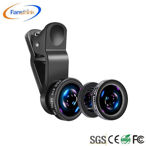 High Quality 3 In 1 Universal Mobile Phone Camera Wide + Macro + Fish Eye Lenses For Android Phone - Buy For Android Phone,Fish Eye Lens,Universal Camera Lens Product on Alibaba.com