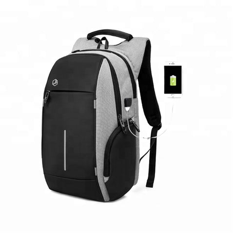 Black Anti Theft Backpack With Usb Charging - FOB:US$ - MOQ:
