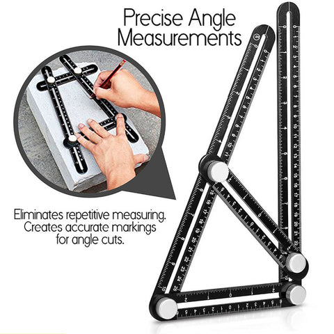 Hot Sale Multi Angle Measuring Ruler Aluminum Angle-izer Template Tool With Metal Screws - FOB:US$ - MOQ: