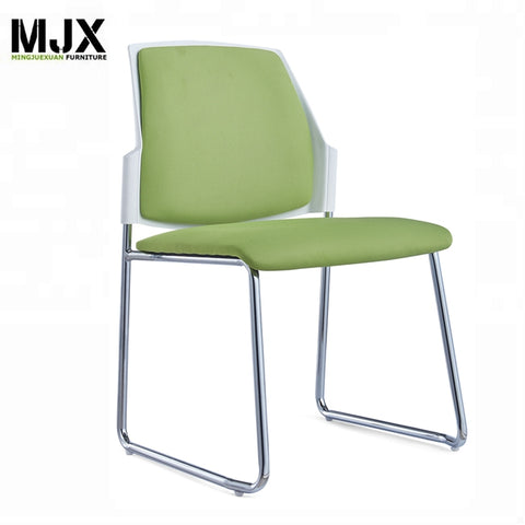 Industrial Plastic Chair Armless Stackable Mesh Metal Training Staff Stackable Office Chair - FOB:US$ - MOQ: