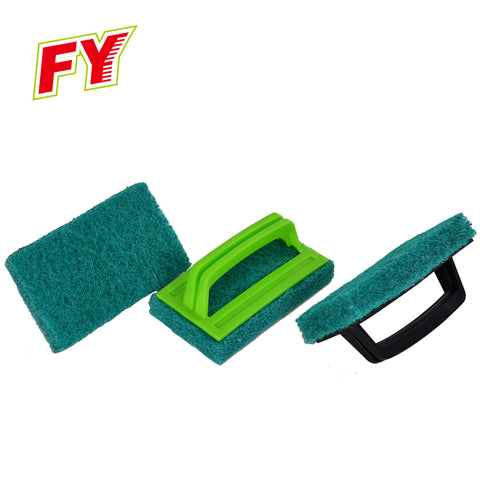 Household Floor Cleaning Brush Pad With Handle,Cleaning Tool For Household - FOB:US$ - MOQ: