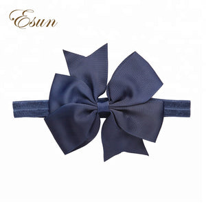 Kids Baby Ornament Knit Elastic Navy Hair Accessories Headband - FOB:US$ - MOQ: