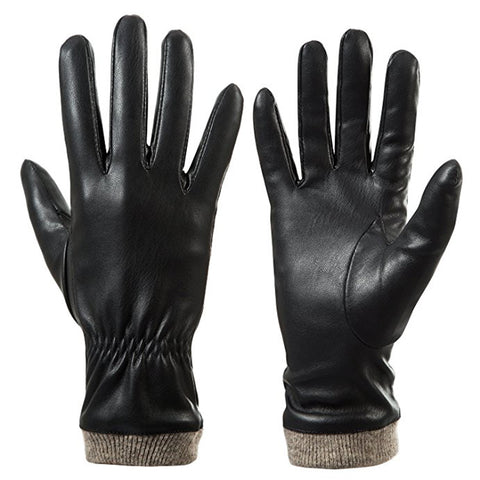 Creative Touch-scene Design Warm Winter Mens Leather Gloves - FOB:US$ - MOQ: