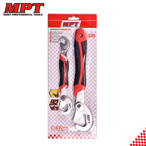 2 Pieces 9-32mm Universal Wrench Set - FOB:US$5.50 - MOQ:100