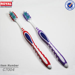 Massage Comfortable Handle Adult Toothbrush - FOB:US$ - MOQ: