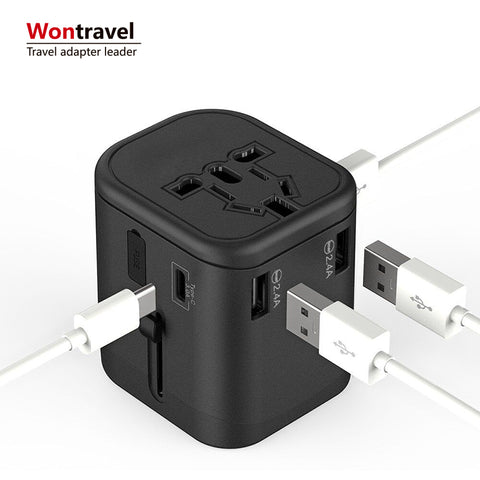 Phone Accessories 4 Usb Type C Wall Charger Travel Usb Home Charger 4.5a Universal Travel Charger - FOB:US$ - MOQ: