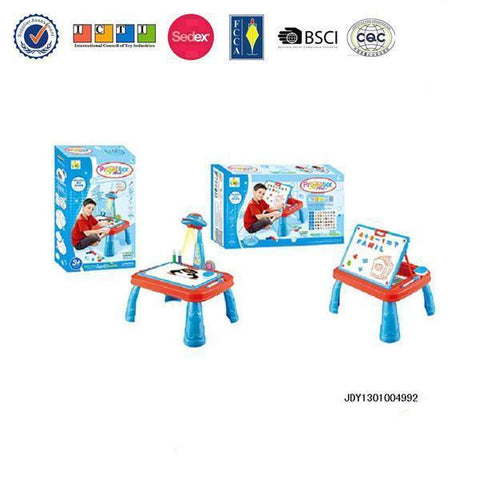 Multifunction Children Educatioanl Projection Desk Learning Toy With Drawing Board - FOB:US$ - MOQ: