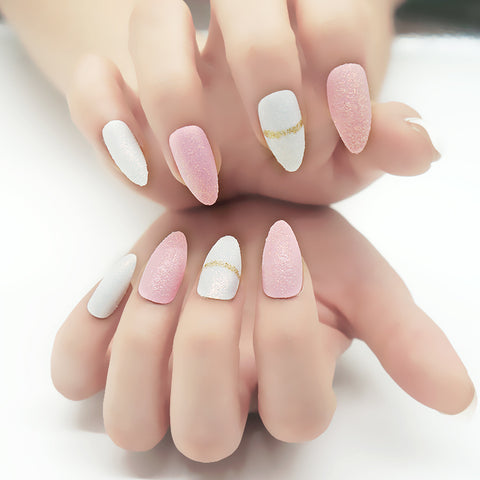 Stiletto False Nail Tips Artificial Fake Nails For Girl - FOB:US$ - MOQ:
