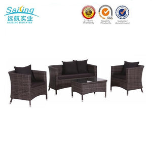 New Design Rattan Outdoor Metal Old Style Italian Wicker Patio Furniture - FOB:US$ - MOQ:
