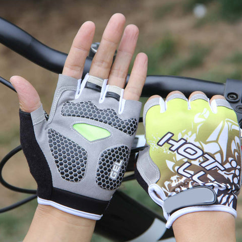 Lycra Half Finger Gloves Outdoor Sports Bike Bicycle Cycling Gym Gloves - FOB:US$ - MOQ: