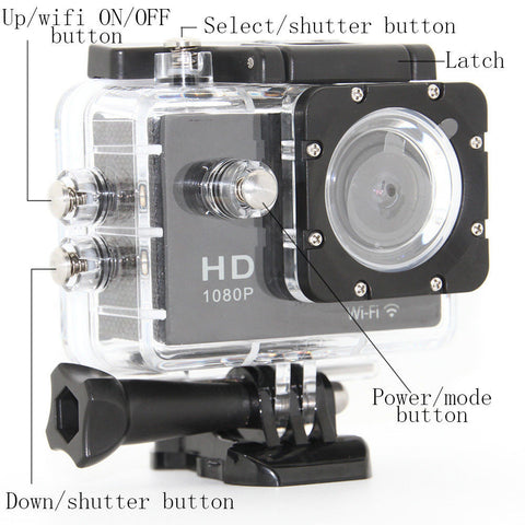 Waterproof Full Hd 1080p Mini Sport Dv 30 Mp Bicycle Helmet Action Camera - FOB:US$ - MOQ: