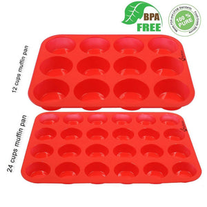 Nonstick Silicone Bakeware 12 Cup Muffin Pan / Cupcake Pan Cupcake Maker - Buy Silicone Muffin Pan,12 Cup Muffin Pan,Cupcake Maker Product on Alibaba.com