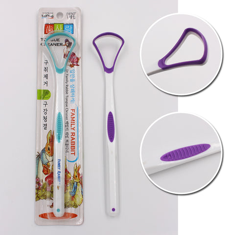 Oral Clean Plastic Tongue Cleaner Tongue Scraper - FOB:US$ - MOQ: