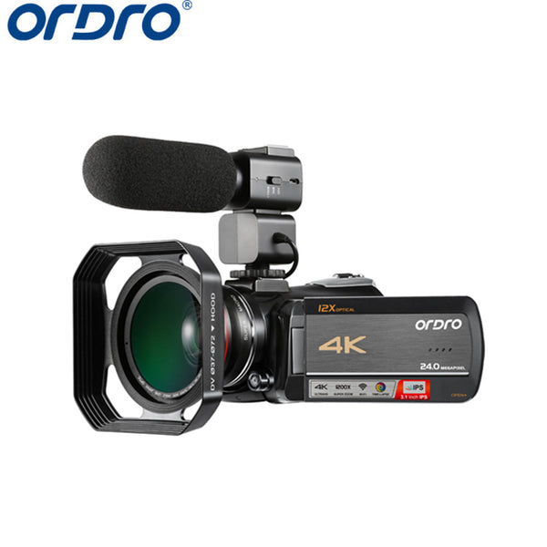 12x Optical Zoom Ips Touch Screen Wifi 4k Ultra Hd Video Camera 4k Professional Camcorder - FOB:US$ - MOQ: