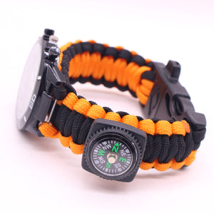 Outdoor Multifunctional Survival 550 Paracord Bracelet Watch - FOB:US$ - MOQ: