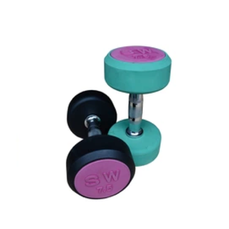 Free Weight Rubber Coated Dumbbell FW-101 - FOB:US$1.73 - MOQ:2000 Kilograms