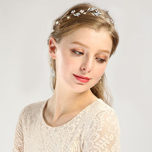 Protein Glass Headpieces Gold Flower Crystal - FOB:US$ - MOQ: