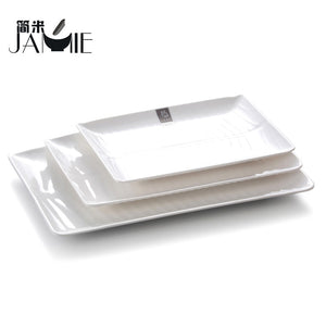 Rectangle Plastic Food Plate,100%melamine Rectangle Restaurant Plates Desert - FOB:US$ - MOQ: