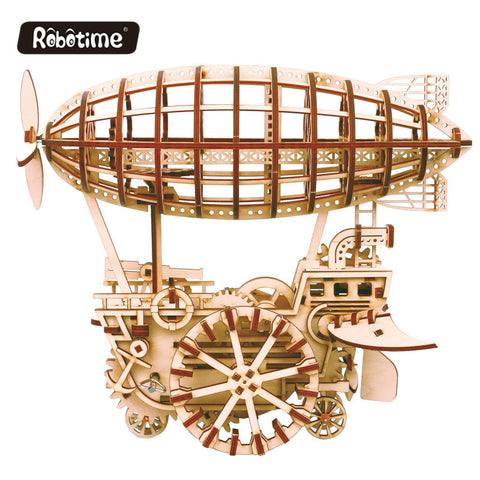 Robotime Mechanical Gear Drive Wooden Models Educational Toys - FOB:US$ - MOQ: