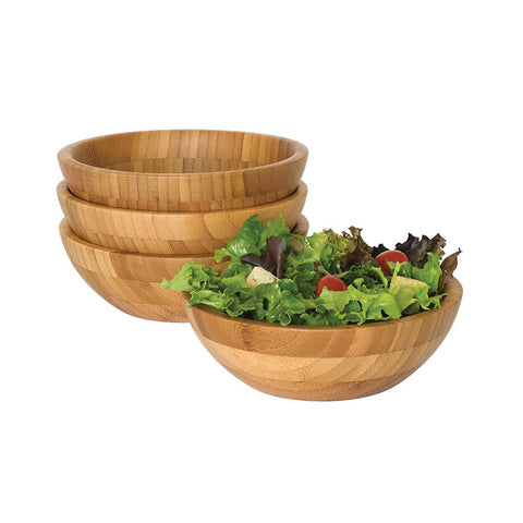Round Bamboo Wooden Salad Bowl With Spoon - FOB:US$ - MOQ: