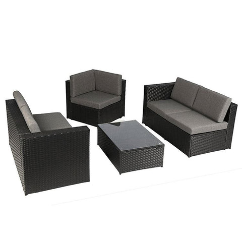 Round Resin Set Brown Navy Outdoor Wicker Patio Furniture Sets Clearance - FOB:US$ - MOQ: