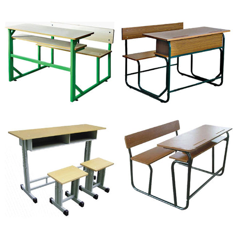 School Desk And Chair Good Price Ce Quality Metal Frame Study Desk Chair - FOB:US$ - MOQ: