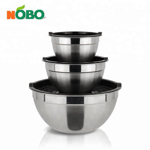 Safe Stackable Salad Bowl Stainless Steel Mixing Bowl With Tight-fitting Lid - FOB:US$ - MOQ:
