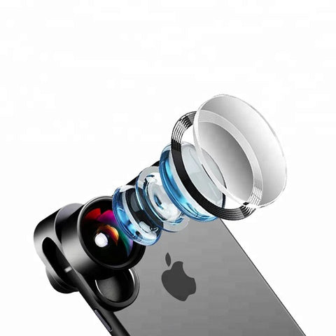 Smart Phone Accessories Phone Camera Lenses 4 In 1 Wide Angle Macro Telephoto Fisheye Lens - FOB:US$ - MOQ: