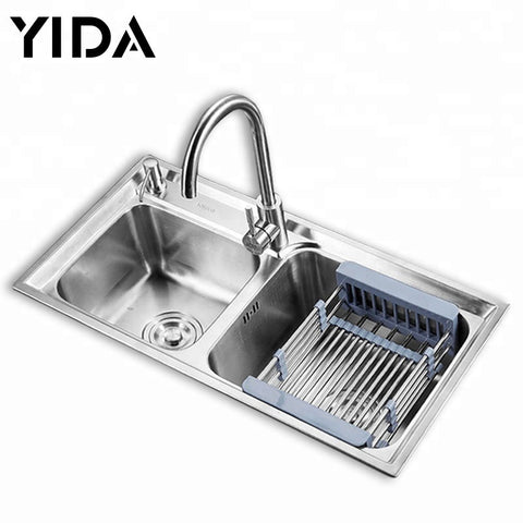Sri Lanka Double Bowl Stainless Steel Cheap Kitchen Sink - FOB:US$ - MOQ: