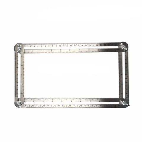 Stainless Steel Multi Ruler Measures All Angles Angle-izer Template Tools - FOB:US$ - MOQ: