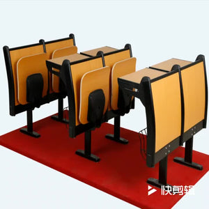 Wooden Chair Classroom Desk And Chair For Collage And Meeting School Furniture Lecture Chair - FOB:US$ - MOQ: